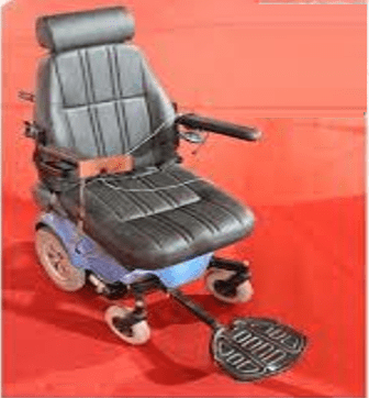 Wheelchair for paralyzed people