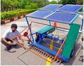 Solar Powered Crop Harvester
